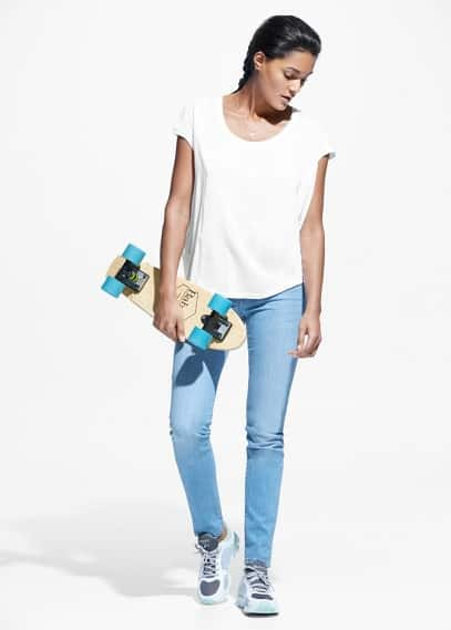Yoga - t-shirt relax algodão | MANGO