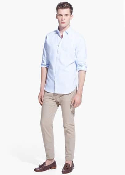 Modern slim-fit patterned shirt