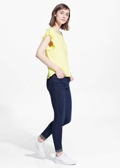 Ruffled sleeve t-shirt | MANGO