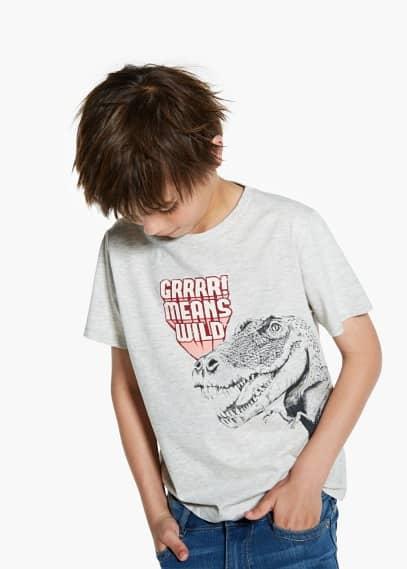 Animal print t-shirt | MANGO KIDS