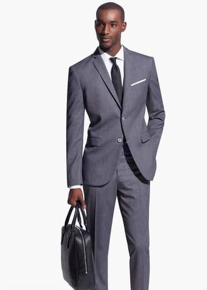 Bird's eye basel suit | MANGO MAN