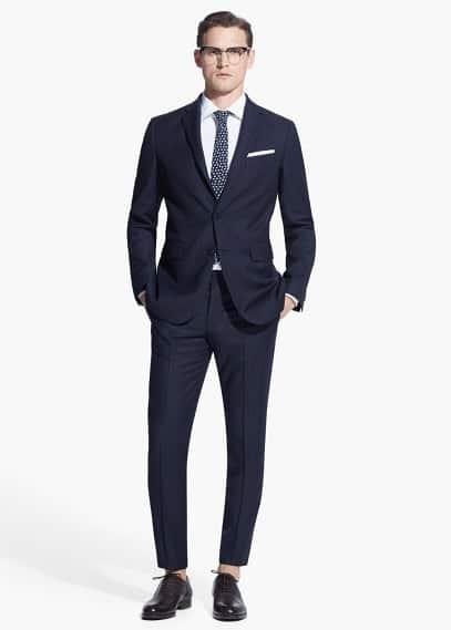 Pinstripe basilia suit | MANGO MAN