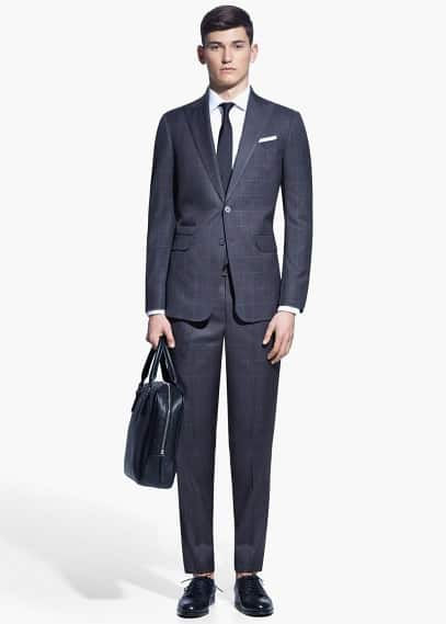 Check cadiz suit | MANGO MAN