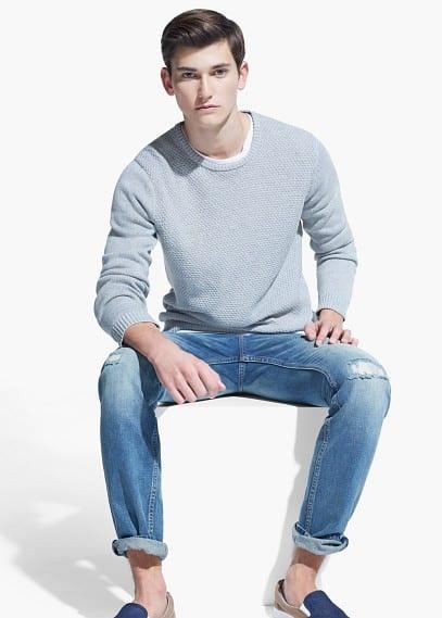 Jersey algodón textura | MANGO MAN