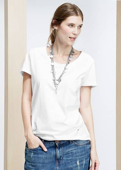 Basic-t-shirt aus baumwoll-mix | VIOLETA BY MANGO