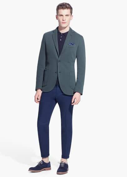 Cotton-blend piqué blazer