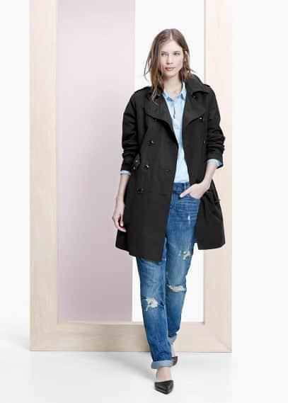 Classic cotton-blend trench coat | VIOLETA BY MANGO
