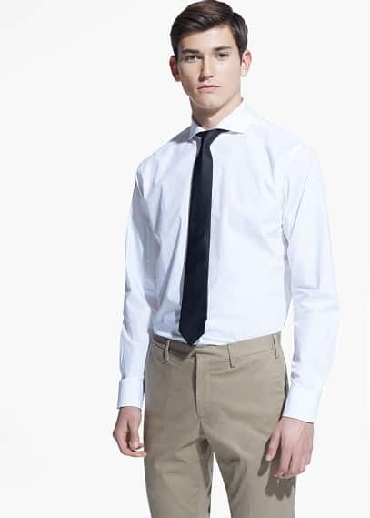 Camisa tailored classic-fit algodón | MANGO MAN