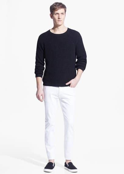 Slim-fit white jan jeans | MANGO MAN