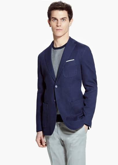 Textured unstructured blazer | MANGO MAN