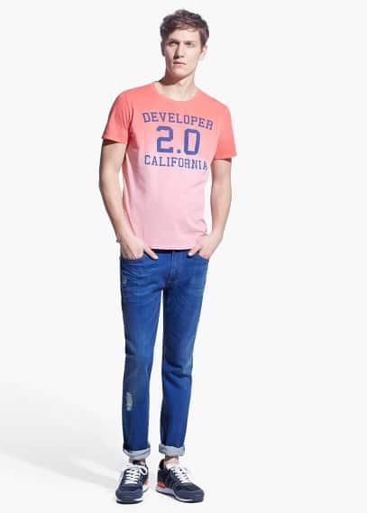 Camiseta degradada california | MANGO MAN