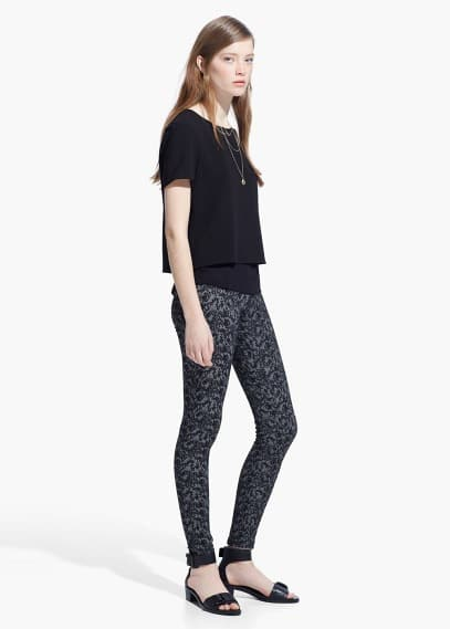 Baroque print leggings | MANGO