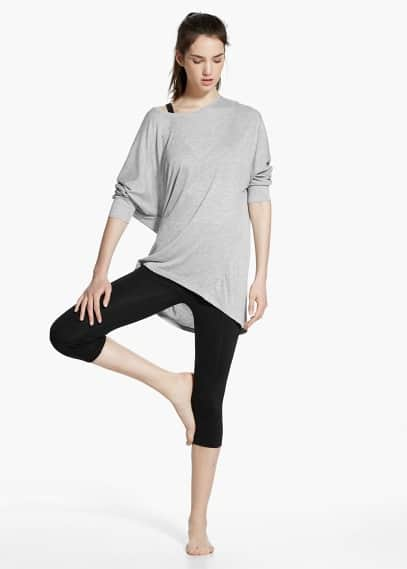 Yoga - t-shirt soft sport | MANGO