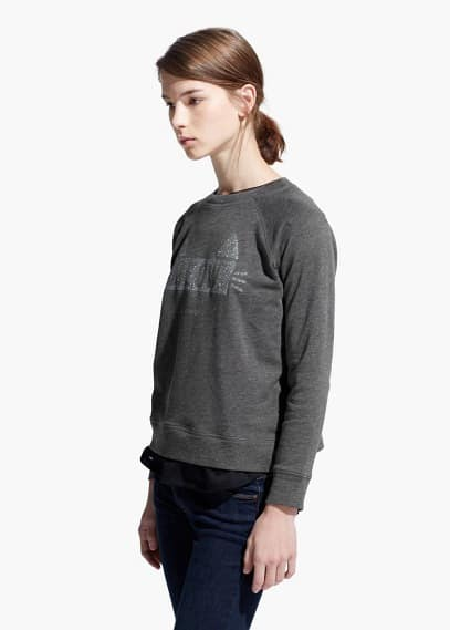 Glitter message sweatshirt | MANGO