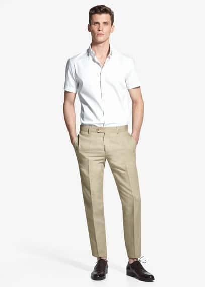 Suit linen trousers | MANGO MAN