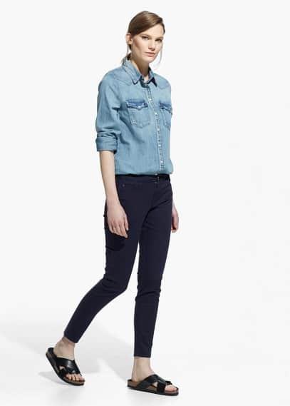 Skinny broek van katoen