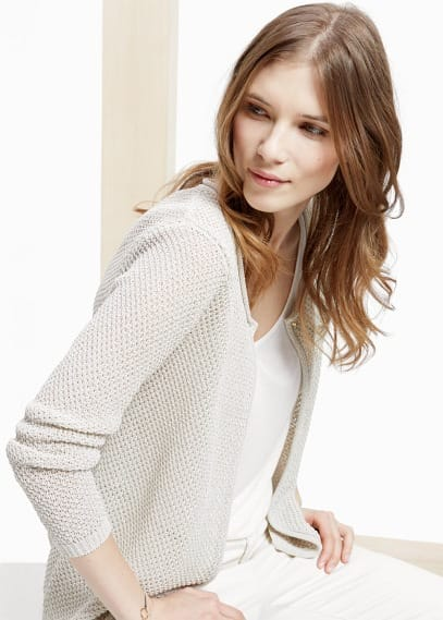 Fancy-knit cardigan | VIOLETA BY MANGO