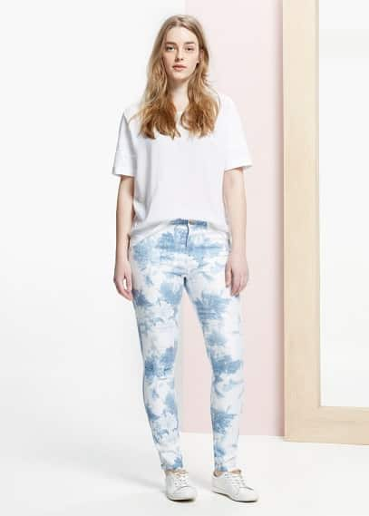 Slim-fit printed jeans leilas | VIOLETA BY MANGO