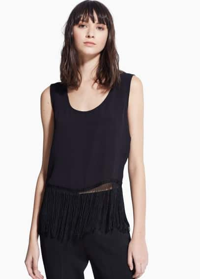 Fringed hem top | MANGO