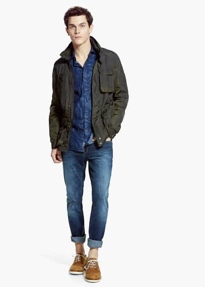 Field jacket nylon capucha | MANGO MAN