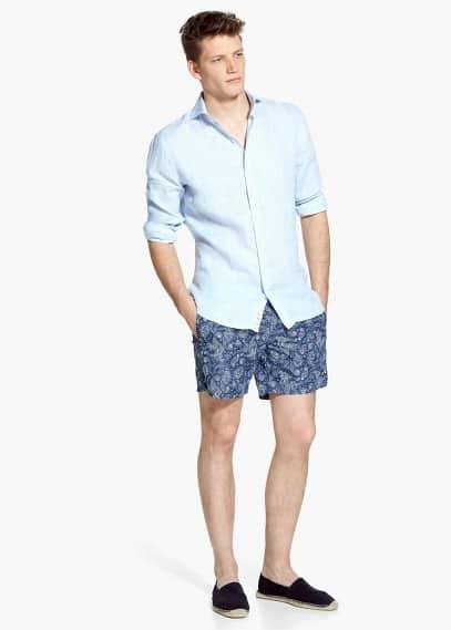 Paisley print swimsuit | MANGO MAN