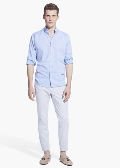 Camisa slim-fit rayas | MANGO MAN