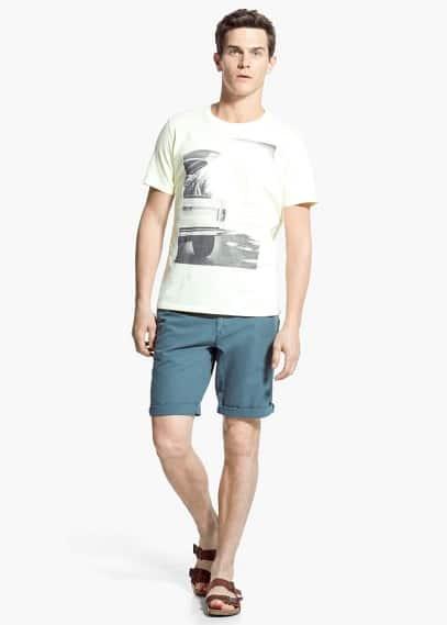 Printed image t-shirt | MANGO MAN