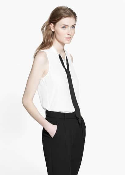 Flowy bow blouse | MANGO