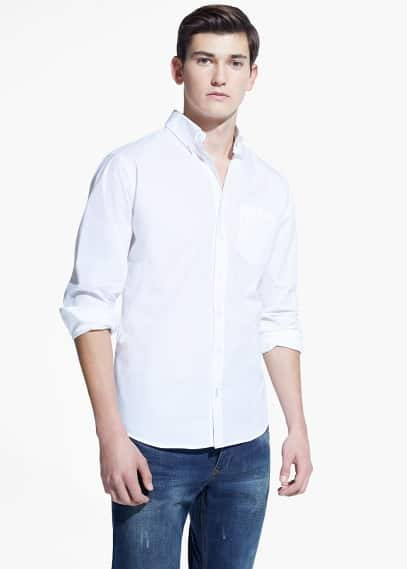 Classic-fit chest-pocket shirt | MANGO MAN