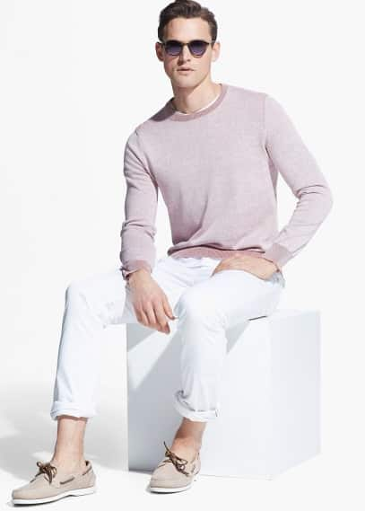 Washed cotton sweater | MANGO MAN