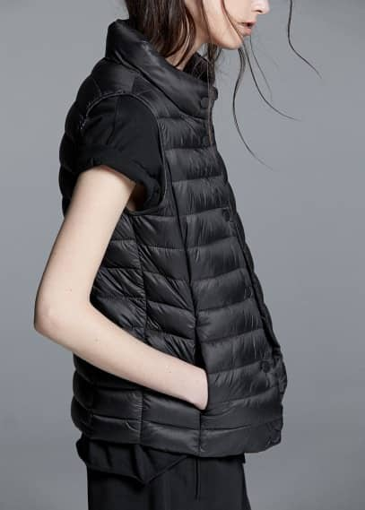 Water-repellent foldable gilet | MANGO