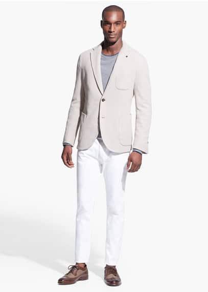 Jersey-Blazer mit Aufnähern