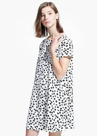 Kleid mit kreismuster | MANGO