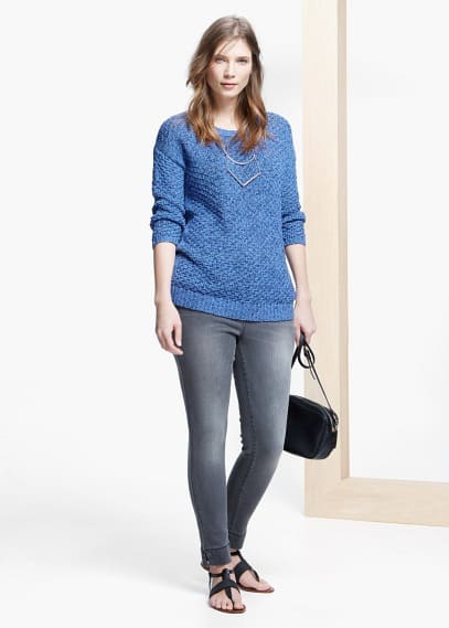 Textured sweater | VIOLETA BY MANGO
