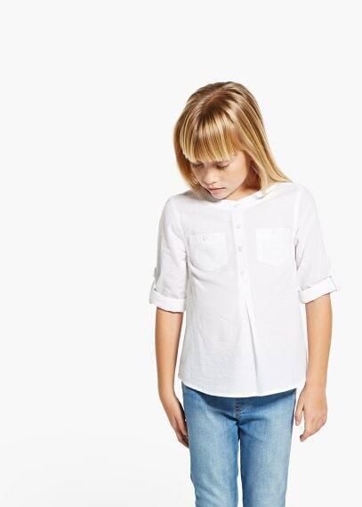 Round neck shirt | MANGO KIDS