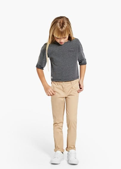 Pantalons cotó prims | MANGO KIDS