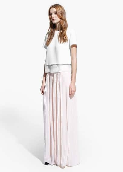 Pantalon palazzo plissé | MANGO