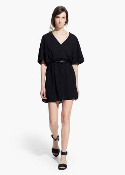 Платье с запáхом, с поясом | MANGO