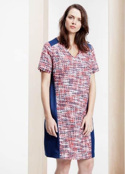 Bouclé-kleid mit lyocell | VIOLETA BY MANGO