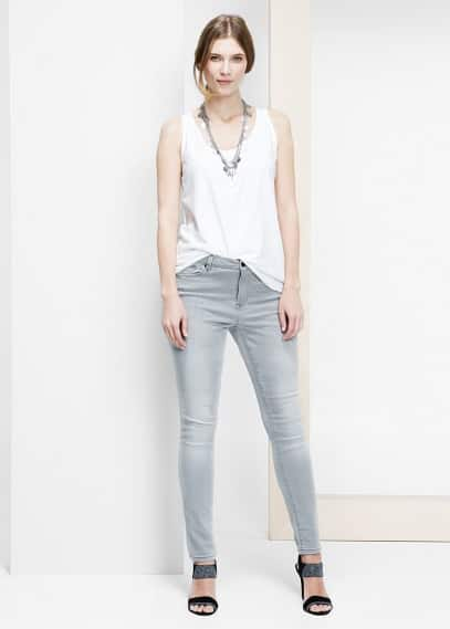 Raw-edge top | VIOLETA BY MANGO