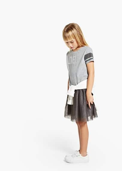 Vestido falda tul