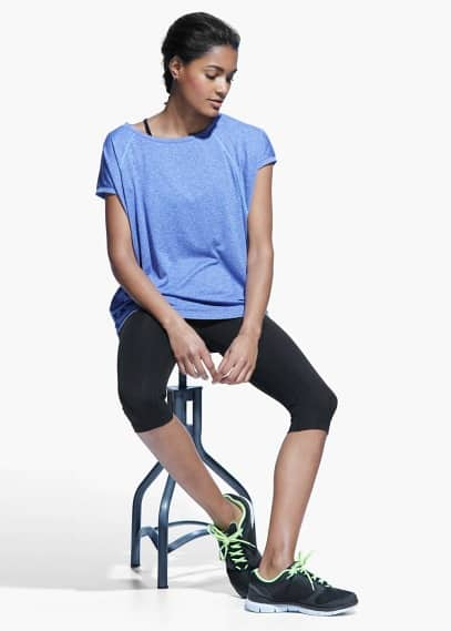 Fitness & running - t-shirt technique manches courtes | MANGO