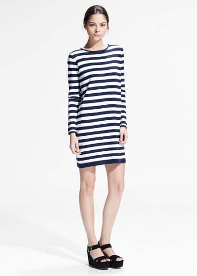 Striped jersey dress | MANGO