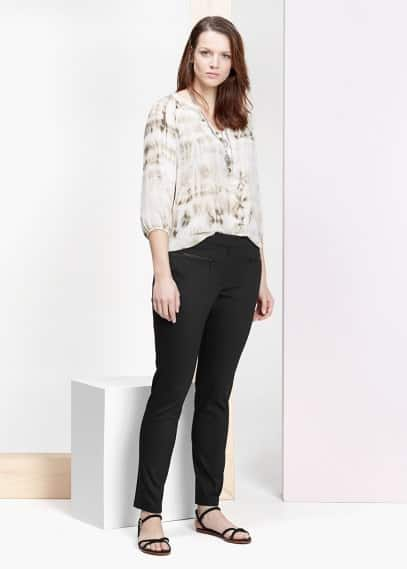 Contrast trims trousers