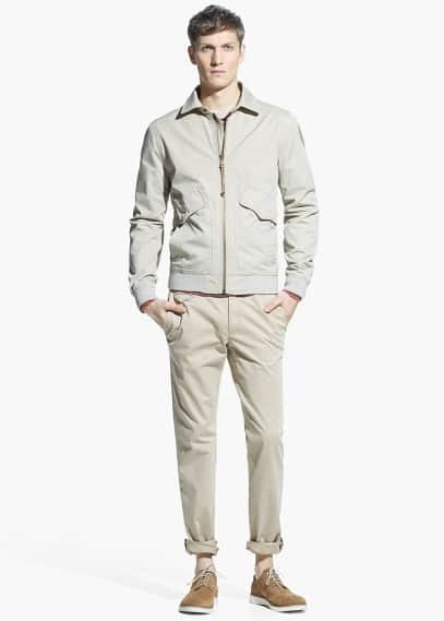 Cotton canvas jacket | MANGO MAN