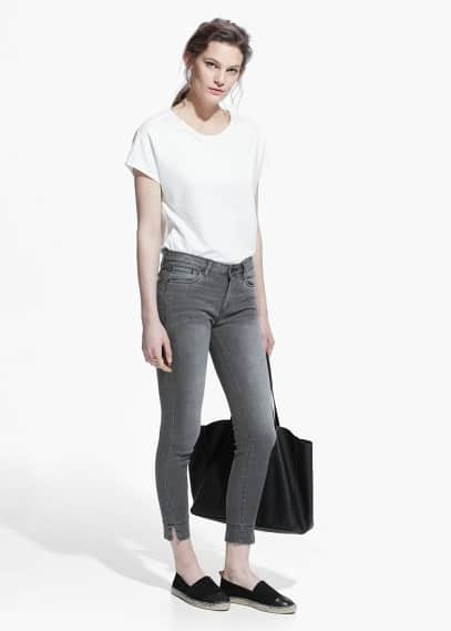 Audrey cropped skinny jeans | MANGO