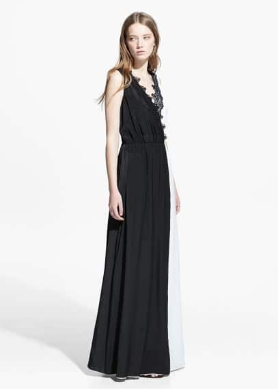 Monochrome gown