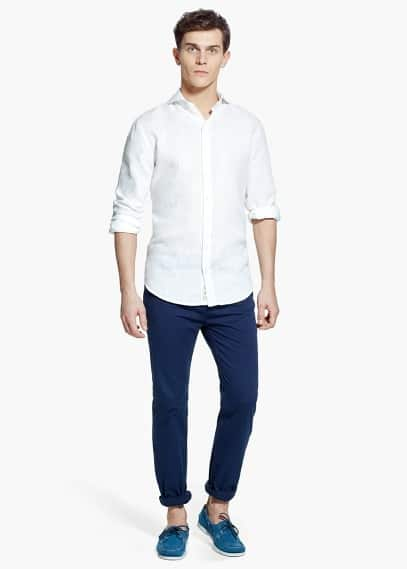 Slim fit leinenhemd | MANGO MAN