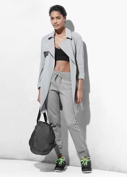 Yoga - relaxed cotton trousers | MANGO