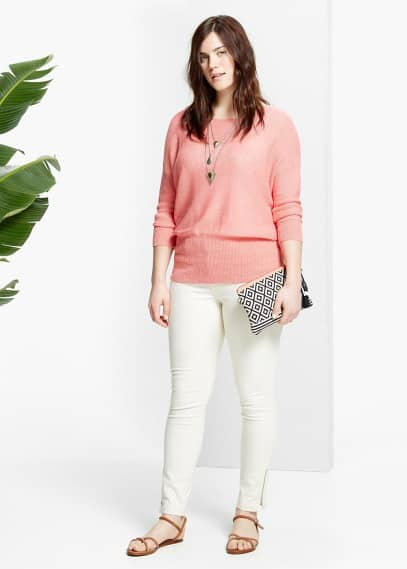 Pull-over lin | VIOLETA BY MANGO